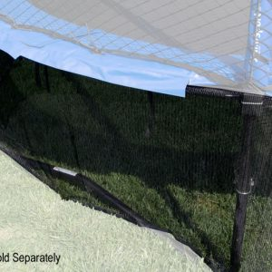 mesh trampoline safety wrap highlighted against a hazy background