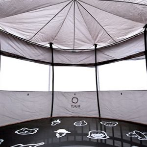 The inside of a vuly tent