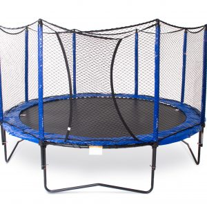 A SoftBounce Trampoline with safety net enclosure against a white background