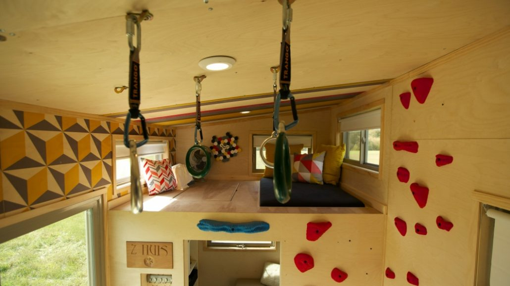 (Picture Credit: www.fyi.tv/shows/tiny-house-nation The Climber Tiny House)