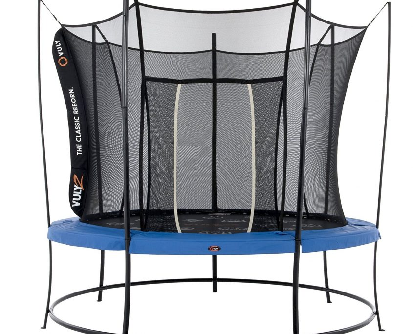A 10 foot Vuly 2 tr&oline with black base blue safety pad and black  sc 1 st  Air Tr&olines : vuly trampoline tent - memphite.com